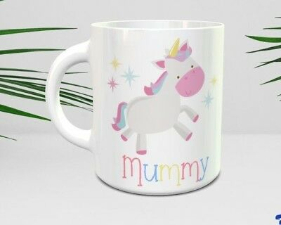 PERSONALISED UNICORN MUG - Matching Mummy & Daughter Mugs Kids Cups Rainbow