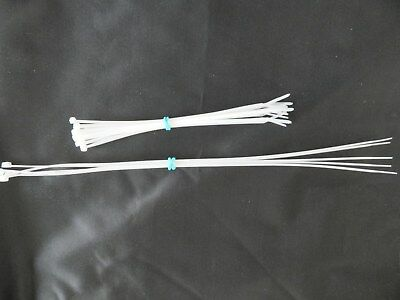 """Thin Cable Ties for Reborn doll supplies ,Combo Pack 20 -8 inch 5-14"""" ties,"""