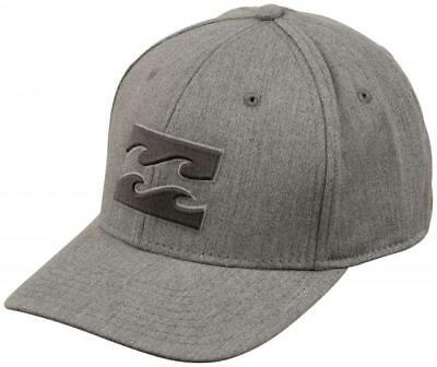 best service 2a29e 264d0 BILLABONG All Day Stretch Mens Hat (NEW) Heather Grey Gray FREE SHIPPING   L
