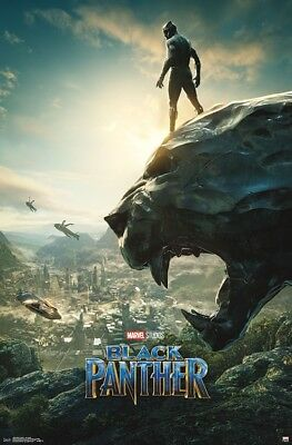 BLACK PANTHER - ONE SHEET MOVIE POSTER - 22x34 MARVEL COMICS 13522