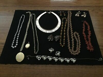 Vintage Jewelry Lot From Dresser Of 93 Year Old Lady. Unique Collection