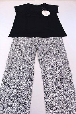 Baby Be Mine Women's Maternity Harper Shirt & Pajama Pant Set AB4 Navy Large NWT