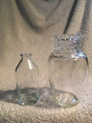 Antique Pretty Apothecary Glass Jars
