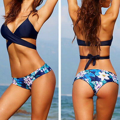 Women's Bikini Set Swimwear Push-Up Padded Bra Swimsuit Beachwear Bathing Suit