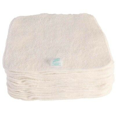 Bamboo Baby Wipes Super Soft Reusable Cloth - 5,10 or 25 pcs