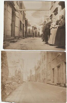 Orig Photo LOT of 2 - Street Scenes People 1907 - Quebec City Canada IDd