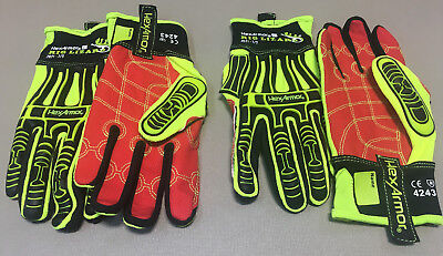 (2) Pair Rig Lizard 2021 Hex Armor Safety Gloves Protective Gear Size 7-Small