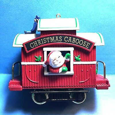 "Hallmark ""Christmas Caboose"" Ornament Dated 1989"