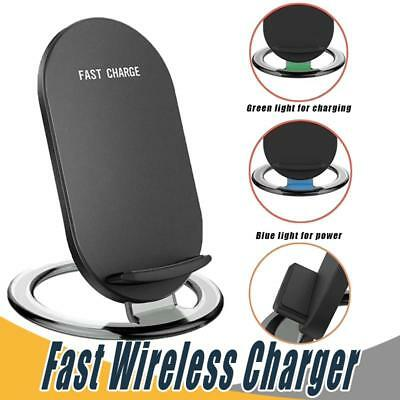 Wireless Fast Charger Pad Stand Dock [ Samsung Galaxy + Apple Iphone ] Universal