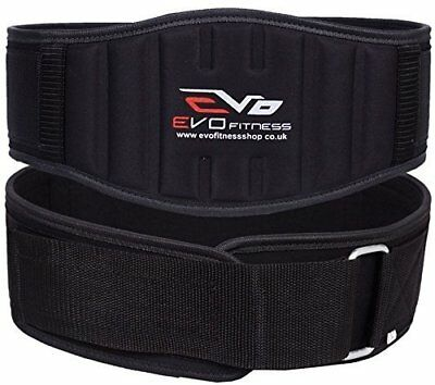 "EVO Fitness 6"" Neoprene Weight Lifting Gym belts Back Support Wraps bodybuilding"