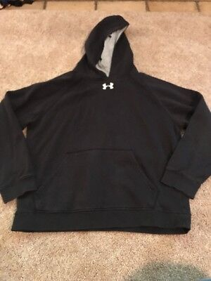 Under Armour Boys Black White Hooded Sweater Size Youth Large
