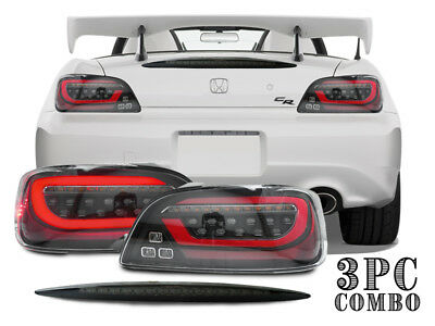 COMBO DEPO LED JDM Sequential Signal Tail Light+Smoke 3rd Brake For Honda S2000