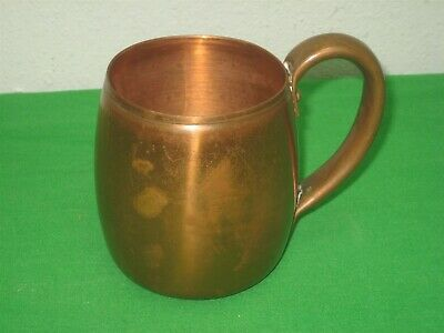 Vintage West Bend Aluminum Solid Copper Metal Cup Mug with Handle 3.75""