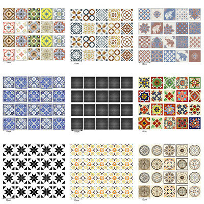 20pcs Self Adhesive Tile Wall Decal Sticker 3D Kitchen Bathroom Decor Vinyl AU!