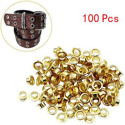 100Pcs Titanium Eyelets Washer Leather DIY Shoes Cloth Craft Repair Grommet Nice