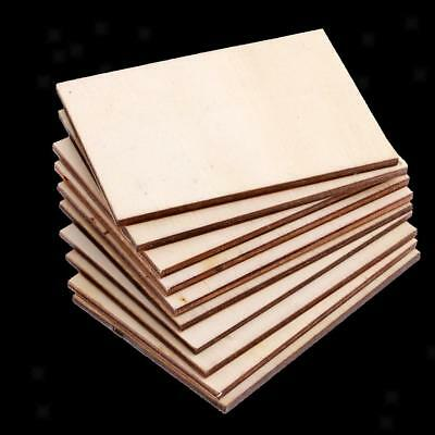 20pcs Plywood Sheets 70x49mm for For Crafts, Models Pyrography DIY Supplies