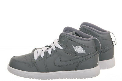 a2e676d20e3e98 NIKE AIR JORDAN 1 Mid Preschool White Grey Sizes 11-3 New in Box ...