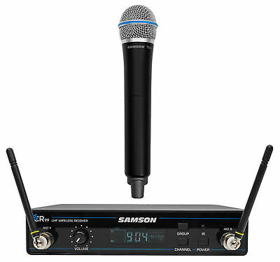 SAMSON Concert 99 Wireless Handheld 80-Channel UHF Karaoke Rack Mount Microphone