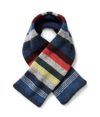 Gap Baby Boy / Toddler Crazy Stripe Fleece Scarf One Size Multi Gray Blue Red