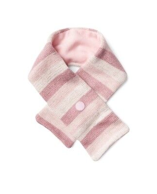 Gap Baby Girl / Toddler Crazy Stripe Shimmer Sparkle Fleece Scarf Pink One Size