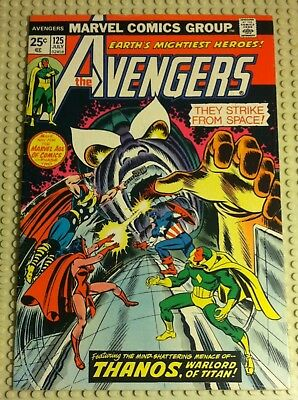 July 1974 Marvel Comics The Avengers 125 Thanos Appearance