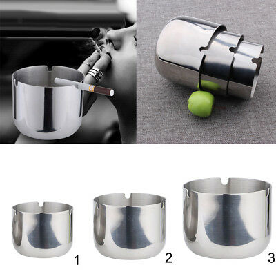 3 Sizes Ashtray Cigarette Ash Tray Smoking Metal Home Ash Tray Cup Canister