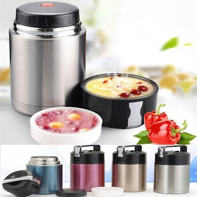 Vacuum Lunch Box Container Stainless Steel Food Thermos Jar Double Insulated1L