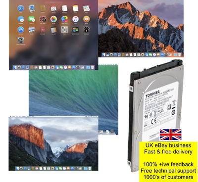 Refurbished HDD/SSHD/SSD with pre-loaded Mac OS/OSX 10.x various 160GB to 500GB