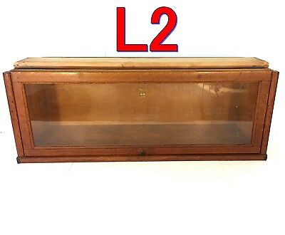 """Antique MACEY Orig Finish Q-sawn Oak BARRISTER BOOKCASE """"D"""" Section 12&3/8"""" Tall"""