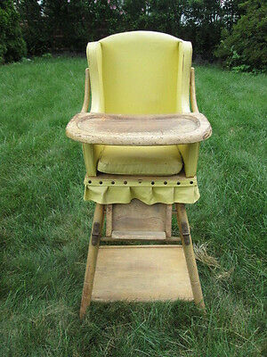 Stupendous Antique Wood Baby Convertible High Chair Play Table Potty Lamtechconsult Wood Chair Design Ideas Lamtechconsultcom