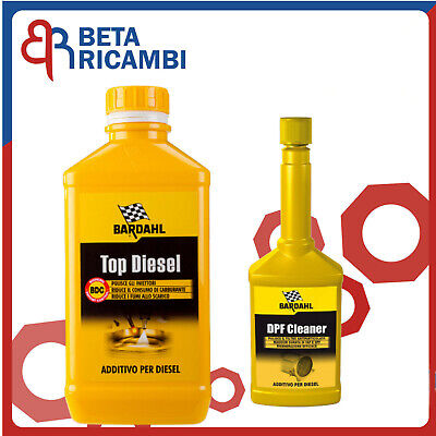 Top Diesel Bardahl Kit Additivo Pulitore pulizia iniettori FAP +Cleaner DPF FAP