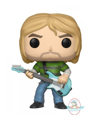 Pop! Rocks Series 3 Kurt Cobain in Striped Shirt Vinyl Figure by Funko