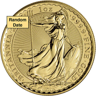 Great Britain Gold Britannia £100 - 1 oz - BU - .9999 Fine - Random Date