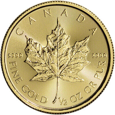Canada Gold Maple Leaf - 1/2 oz - $20 - BU - .9999 Fine - Random Date