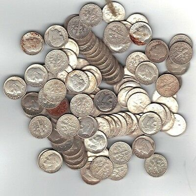 90% Silver Roosevelt Dimes - Random Lot of 15- Mixed Date