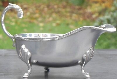 Vintage Silver Plated Gravy / Sauce Boat