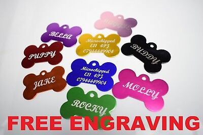Personalised Pet Id Tag,Dog Identification,Engraved,deep engraving,dog CAT Tags