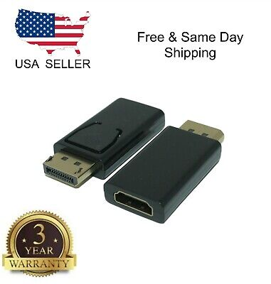 New Display Port to HDMI Male Female Adapter Converter DisplayPort DP to HDMI