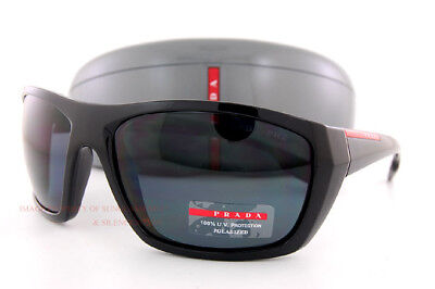 616ab80b01 ... promo code for brand new prada sport sunglasses ps 06ss 1ab 5z1 black  gray polarized for