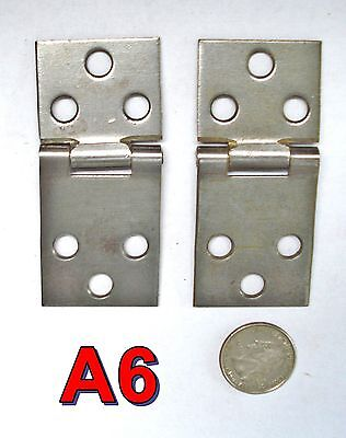 Pair Antique Treadle Sewing Machine Parts HINGES singer new home white???? *A6*