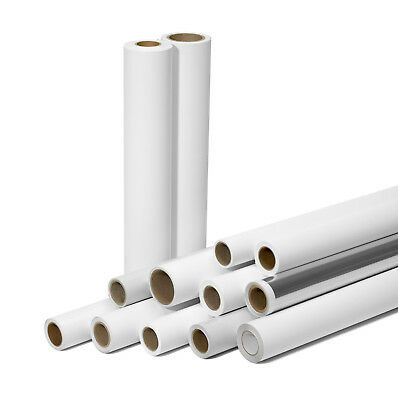 """8 Mil Satin Poly Instant Dry 36"""" x 100' Bannerstand/Photo Paper"""