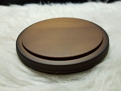"Plymor Round Solid Wood Display Base .5"" x 5"" Diameter"