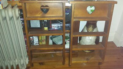 Pair of Vintage Wooden Hanging Display Stands