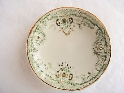 """T & R Boote Butter Pat """"The Defender"""" Waterloo Potteries Semi-Porcelain England"""