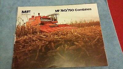 Massey Ferguson Mf 760 Mf 750 Combines Sales Brochure