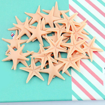 50Pcs Wedding Craft Jewelry Decor Mini Beach Fake Starfish Sea Star Shell 2CM