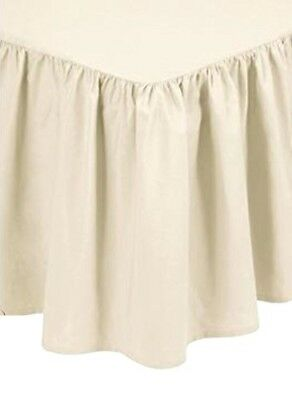 Catherine Lansfield Non Iron Combed Polycotton Base Valance Pleated Cream Sheet