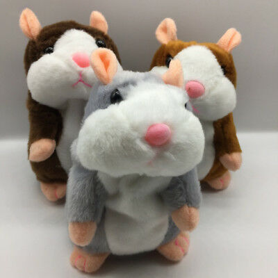Talking Hamster Repeats What You Say Plush Animal Toy Hamster Mouse Pet for Kids
