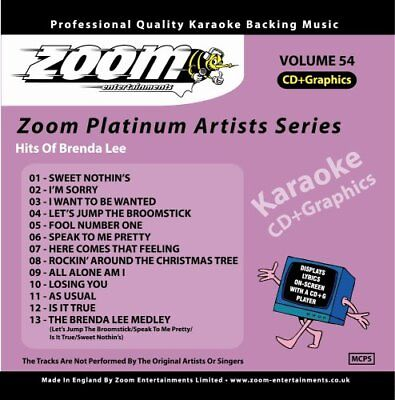 Zoom Karaoke Platinum Artists Series Vol. 54 CD+G - Hits of Brenda Lee