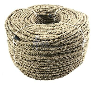 10mm Natural Jute Rope, Twisted Braided Decking Garden & Boating Hessian Cord